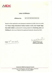 ASDC Certificate copy
