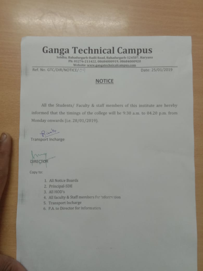 Upcoming Placement Drives Ganga Technical Campus 92 Geo Metro Wiring Diagram Free Picture College Notice