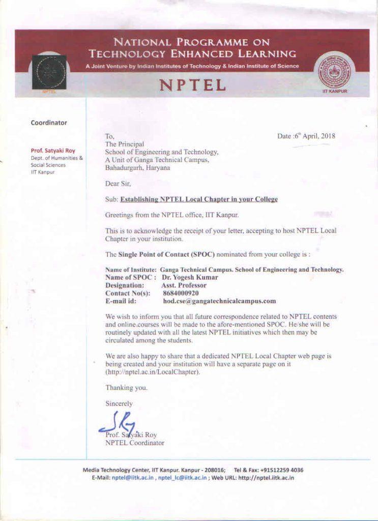 LETTER-NPTEL