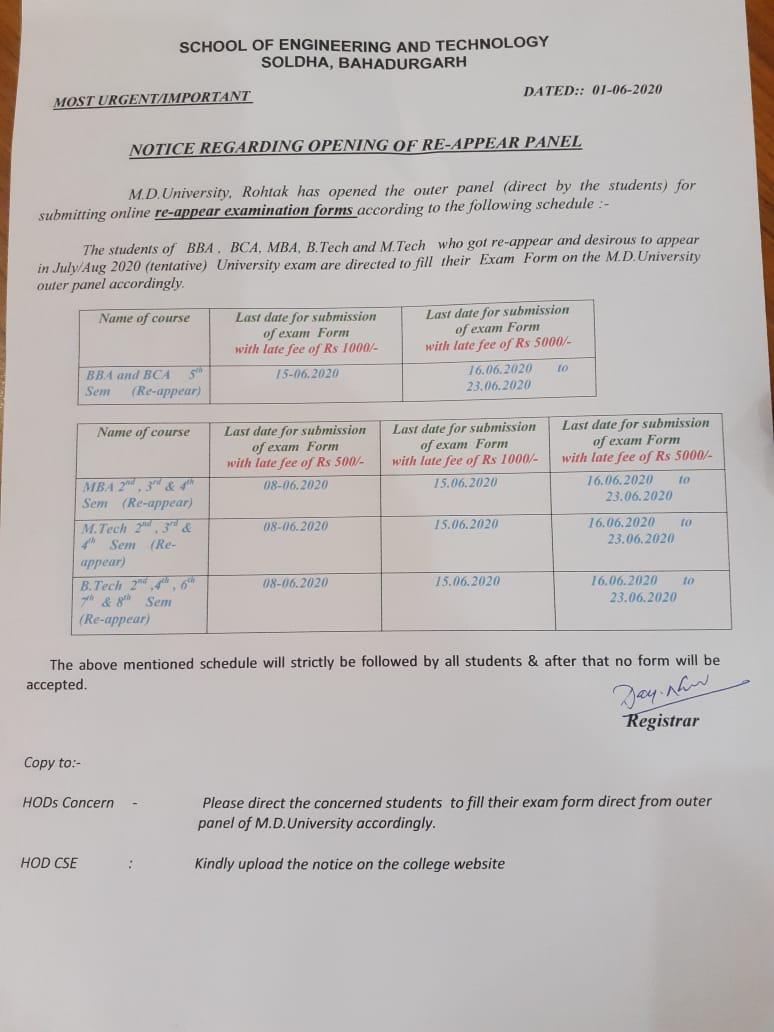 exam-notice