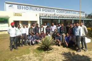 INDUSTRIALL VISIT AT BHORUKA POWER C CORPORATION