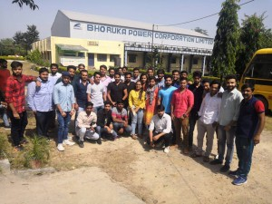 INDUSTRIAL VISIT AT BHORUKA POWER CORPORATION YAMUNANAGAR