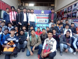 SELECTED STUDENTS IN JBM INDIA PVT. LTD.